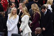 Tiffany Trump, left, looks toward half-sister Ivanka Trump before the start of the President Inaugural on Capitol Hill January 20, 2017 in Washington, DC. Donald Trump became the 45th President of the United States.