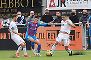 Cove Rangers' Leighton McIntosh (11) battles for possession, tussles, tackles, challenges, during the Premier Sports Scottish League Cup match between Cove Rangers and Inverness CT at Balmoral Stadium, Aberdeen, Scotland on 20 July 2021.