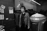 The Edge - U2 visits a Juke Box store - Atlanta  USA - December 1981
