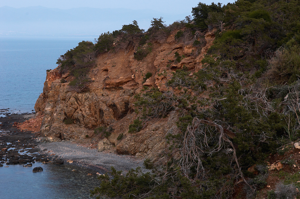 The coastline at Akamas Peninsula, Cyprus
