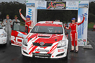 Neal Bates & Coral Taylor after wining championship.Motorsport-Rally/2008 Coffs Coast Rally.Heat 2.Coffs Harbour, NSW.16th of November 2008.(C) Joel Strickland Photographics