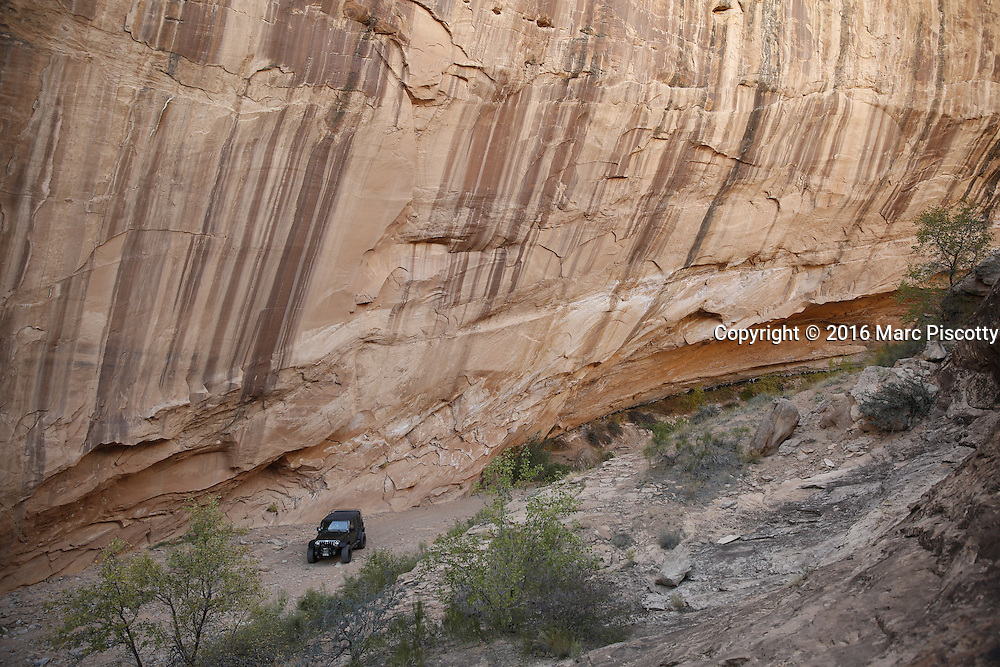 SHOT 10/18/16 3:31:11 PM - Emery County Utah tourism photos including hiking and exploring Goblin Valley including an arch rappel, the Black Dragon Canyon and  mountain biking Saucer Basin with Lamar Guymon. (Photo by Marc Piscotty / © 2016)