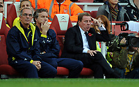 An Unhappy Harry Redknapp Manager<br /> Tottenham Hotspur 2009/10<br /> Arsenal V Tottenham Hotspur (3-0) 31/10/09<br /> The Premier League<br /> Photo Robin Parker Fotosports International