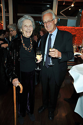DR IAIN DOUGLAS-HAMILTON and his mother PRUNELLA POWER at a reception in aid of Save The Elephants held at Patrick Mavros, 104-106 Fulham Road, Lodon SW3 on 23rd September 2009.