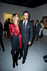 Carine Roitfeld and Tom Ford at a private view of Nicolas Pol's paintings entitled 'Mother of Pouacrus' held at The Dairy, Wakefield Street, London WC1 on 14th October 2010.