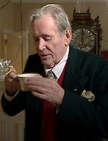 photo ©Tom Wagner. Portrait of Peter O'Toole, actor, in a hotel in London, prior to release of his movie Venus. Photo© Tom Wagner ..www.tomwagnerphoto.com. Photo©Tom Wagner - all rights reserved, all moral rights asserted. Copyrighted - no useage allowed without written permission and agreement of Tom Wagner, photographer/creator.