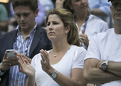 August 31, 2017 - Flushing Meadows, New York, U.S - Mirka Federer, wife of Roger Federer attends the match on Day Four of the 2017 US Open with Mikhail Youzhny at the USTA Billie Jean King National Tennis Center on Thursday August 31, 2017 in the Flushing neighborhood of the Queens borough of New York City. Federer defeats Youzhny, 6-1, 6-7(7-3), 4-6, 6-4, 6-2. First time Federer play consecutive 5 set matches. (Credit Image: © Prensa Internacional via ZUMA Wire)