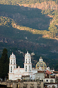 The Parquilla de Ghavarieta Church in the silver mining city of Taxco, Guerrero State, Mexico.