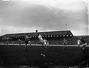 01/12/1957<br /> 01/12/1957<br /> 01 December 1957<br /> Soccer: Shamrock Rovers v Evergreen United at Glennmalure Park, Milltown, Dublin.