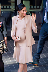 The Duchess of Sussex leaves the National Theatre on Wednesday 30th January after a brief visit. Earlier this month The Duchess was announced as Patron of the National Theatre, one of two Patronages passed on by Her Majesty The Queen. 30 Jan 2019 Pictured: Meghan Duchess of Sussex. Photo credit: MEGA TheMegaAgency.com +1 888 505 6342