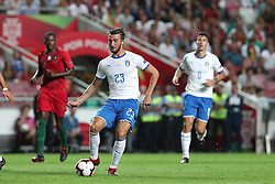 September 10, 2018 - Lisbon, Portugal - Italy's midfielder Bryan Cristante in action during the UEFA Nations League A group 3 football match Portugal vs Italy at the Luz stadium in Lisbon, Portugal on September 10, 2018. (Credit Image: © Pedro Fiuza/ZUMA Wire)