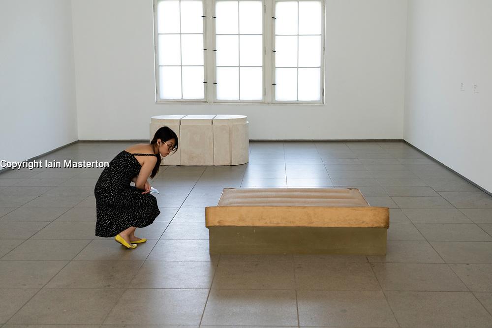 Rachel Whitehead art installation Untitled, 1991 at Hamburger Bahnhof art museum in Berlin .Editorial Use Only.