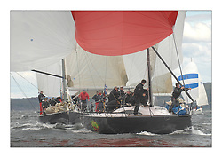 Sailing - The 2007 Bell Lawrie Scottish Series hosted by the Clyde Cruising Club, Tarbert, Loch Fyne..The final days racing had cold steady Northerly breeze to decide the overall placings..Overall winner Jump Juice the Ker 37 in Class one..