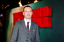 Michael Fassbender attending the Tomb Raider European Premiere held at Vue West End in Leicester Square, London.