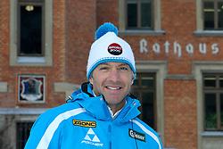 14.01.2013, Schladming, AUT, FIS Weltmeisterschaften Ski Alpin, Schladming 2013, Vorberichte, im Bild Hans Knauß in seiner Heimatstadt Schladming vor dem Rathaus // Hans Knauß in his hometown Schladming in front of the town hall preview to the FIS Alpine World Ski Championships 2013 at Schladming, Austria on 2013/01/14. EXPA Pictures © 2013, PhotoCredit: EXPA/ Martin Huber