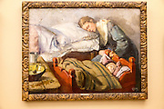 'Sleeping Family' 1883 oil painting on canvas by Christian Krohg 1852-1925, Kode 3 art gallery Bergen, Norway