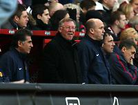 Photo: Chris Ratcliffe.<br />Charlton Athletic v Manchester United. The Barclays Premiership. 19/11/2005.<br />Alex Ferguson enjoys the win