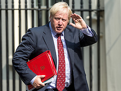 June 20, 2017 - London, United Kingdom - Boris Johnson, Foreign Secretary. Cabinet Ministers arrive and depart from the weekly Cabinet Meeting at Number 10 Downing Street. This weeks Cabinet is the first since the Glenfell Tower fire, The Finsbury Park terror attack and the beginning of Brexit negotiations in Brussels. (Credit Image: © Pete Maclaine/i-Images via ZUMA Press)