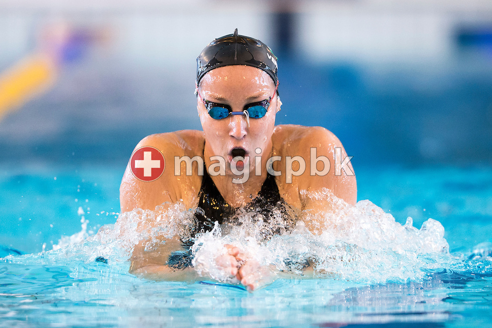 Evelyn VERRASZTO of Hungary swims the breaststroke leg in the women's 400m Individual Medley (IM) Heats during the International Swim Meet Uster 2015 in Uster, Switzerland, Sunday, Jan. 25, 2015. (Photo by Patrick B. Kraemer / MAGICPBK)