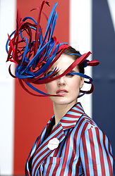 Marina Zubkova poses for photographers during day two of Royal Ascot at Ascot Racecourse.
