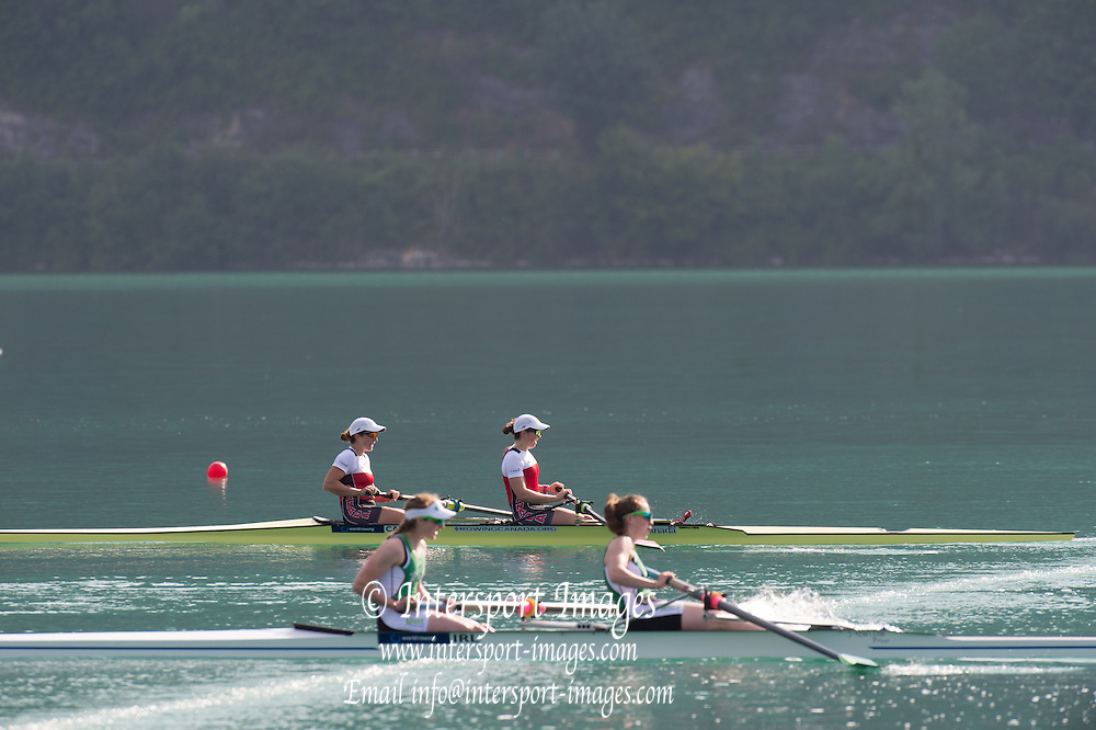 Aiguebelette, FRANCE.  CAN LW2X. Lindsey JENNERICH and Patricia OBEE Sunday, Finals at the  2014 FISA World Cup II, 09:09:23  Sunday  22/06/2014. [Mandatory Credit; Peter Spurrier/Intersport-images]