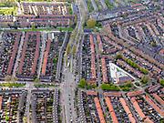 Nederland, Noord-Holland, Zaandam, 07-05-2021; Zaandam, Oud-Zuid, Burgemsstersbuurt. Kepplerstraat.<br /> luchtfoto (toeslag op standaard tarieven);<br /> aerial photo (additional fee required)<br /> copyright © 2021 foto/photo Siebe Swart.