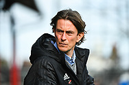 Brentford Manager Thomas Frank during the EFL Sky Bet Championship match between Brentford and Queens Park Rangers at Griffin Park, London, England on 2 March 2019.