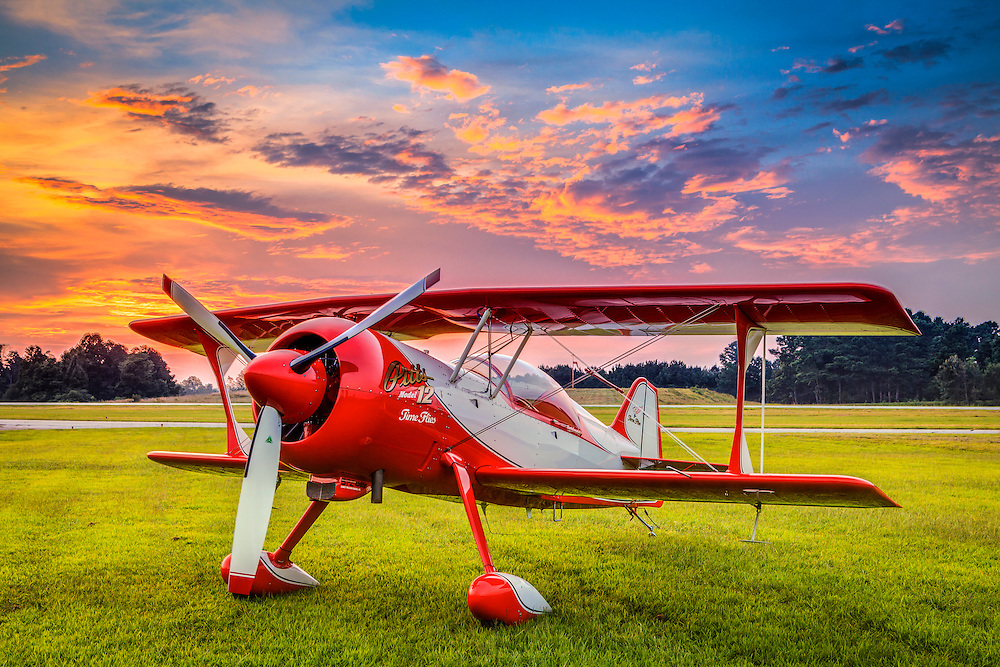 Larry King with his new ride, a Pitts Model 12.  Created at the Habersham County airport in Cornelia, Georgia.
