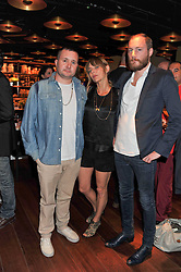Left to right, KIM JONES, JEMIMA FRENCH and JAMES SMALL at a dinner to celebrate the beginning of a unique partnership between The Naked Heart Foundation and W's Newest Hotel W St.Petersburg -The 'For Russia With Love' dinner was hosted by Sadie Frost and Natalia Vodianova at Spice Market restaurant, W London, Leicester Square, London on 2nd June 2011.