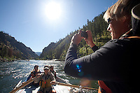 Rafting on the Main Salmon River in central Idaho