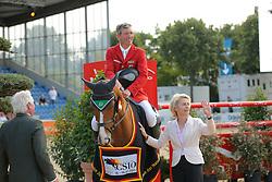 Leyen Ursula von der, Beerbaum Ludger, (GER)<br /> CSIO Nations Cup - Mannheim 2015<br /> © Hippo Foto - Stefan Lafrentz