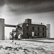 IceCube Laboratory as seen on approach when walking the 1 kilometer from the South Pole Station