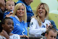 """Valeria MAGGIO, Roberta MARCHISIO (Italia)<br /> Danzica 10/06/2012  """"GDANSK ARENA""""<br /> Football calcio Europeo 2012  Spagna Vs Italia <br /> Football Calcio Euro 2012<br /> Foto Insidefoto Alessandro Sabattini"""