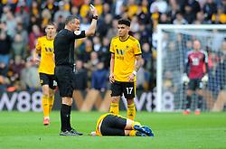 Diogo Jota of Wolverhampton Wanderers picks up an injury  - Mandatory by-line: Nizaam Jones/JMP - 02/03/2019 - FOOTBALL - Molineux - Wolverhampton, England -  Wolverhampton Wanderers v Cardiff City - Premier League