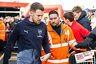 Aaron Ramsey (Arsenal) arriving off the coach ahead of the Premier League match between Bournemouth and Arsenal at the Vitality Stadium, Bournemouth, England on 25 November 2018.