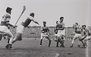Action from the 1965 All-Ireland Final. Tipperary players from the left, Kieran Carey, Tony Wall and John Doyle. Wexford players include Ned Wheeler, Martin Byrne, Martin Codd and Joe Foley.