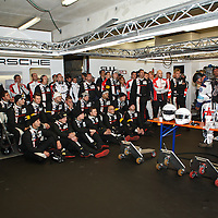 Porsche pit garage right before the end of the race (Le Mans 24H 2013)