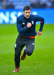 Birmingham City's Maxime Colin warms up ahead of the match