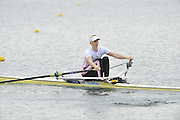 Eton, United Kingdom  GBR W1X. Victoria THORNLEY, at the start of the women's single sculls  time trial,  at the 2012 GB Rowing Senior Trials, Dorney Lake. Nr Windsor, Berks.  Saturday  10/03/2012  [Mandatory Credit; Peter Spurrier/Intersport-images]