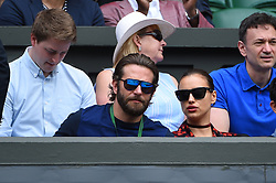 Actor Bradley Cooper with his girlfriend model Irina Shayk in the Royal Box on day twelve of the Wimbledon Tennis Championships in London, UK, on Friday, July 8, 2016. photo by Corinne Dubreuil/ABACAPRESS.COM
