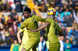 February 3, 2019 - Villarreal, Castellon, Spain - Alvaro Gonzalez and Alfonso Pedraza of Villarreal during the La Liga match between Villarreal and Espanyol at Estadio de la Ceramica on February 3, 2019 in Vila-real, Spain. (Credit Image: © Maria Jose Segovia/NurPhoto via ZUMA Press)