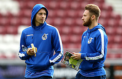 Billy Bodin and Matt Taylor of Bristol Rovers arrive at Sixfields for the Sky Bet League One fixture with Northampton Town - Mandatory by-line: Robbie Stephenson/JMP - 01/10/2016 - FOOTBALL - Sixfields Stadium - Northampton, England - Northampton Town v Bristol Rovers - Sky Bet League One