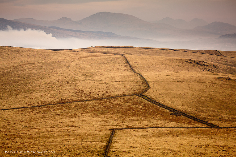 Rolling moorland slopes of Bwlch Mawr on the Llyn peninsula in North Wales