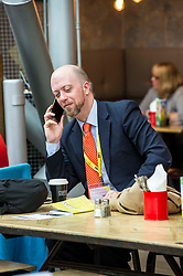 Pictured: Where real politics takes place - in the cafes and bars around the conference hall<br /> The members of the SNP gathered in the Scottish Events Centre in Glasgow for their annual conference.<br /> <br /> The Ger Harley   EEm 9 October 2017
