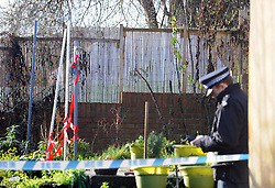 © Licensed to London News Pictures. 05/01/2016<br /> police tent in the backgarden.<br /> <br /> Sian Blake's home in Erith,Kent has turned into a crime scene today (05.01.2016) with officers from the Met's Homicide and Major Crime Command leading the search for the missing family.<br /> Police teams at the home of missing EX-EastEnders actress SIAN BLAKE who has been missing along with her Boyfriend and two sons since early December 2015.<br /> (Byline:Grant Falvey/LNP)