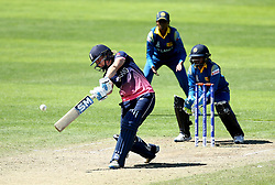 Heather Knight of England Women plays an attacking shot over the top of the infield - Mandatory by-line: Robbie Stephenson/JMP - 02/07/2017 - CRICKET - County Ground - Taunton, United Kingdom - England Women v Sri Lanka Women - ICC Women's World Cup Group Stage