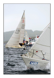 Brewin Dolphin Scottish Series 2010, Tarbert Loch Fyne - Yachting..Day one stated late but resulted in good conditions on Loch Fyne..Bow branding...