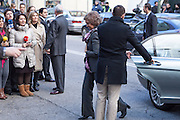 The queen Sofia visits Don Juan Carlos at the clinic San jose - Madrid