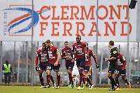 JOIE DE Cedric AVINEL- 24.01.2015 - Clermont / Chateauroux  - 21eme journee de Ligue2<br /> Photo : Jean Paul Thomas / Icon Sport *** Local Caption ***