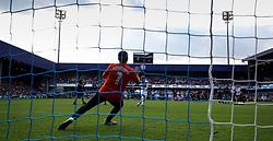 2 September 2017 - Charity Football - Game 4 Grenfell - Olly Murs of Team Ferdinand scores the winning penalty against goalkeeper Jose Mourinho- Photo: Charlotte Wilson